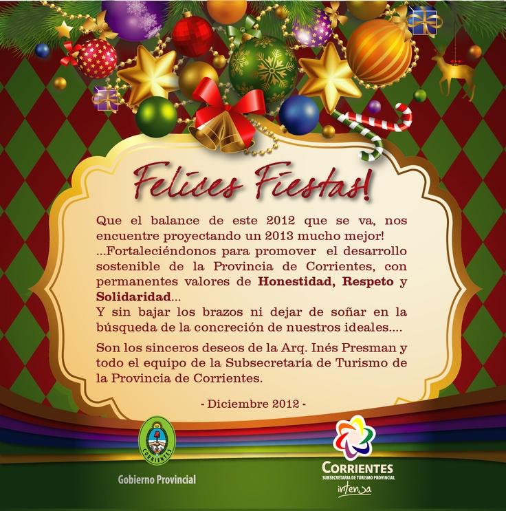 MUY FELICES FIESTAS LES DESEA LA SUBSECRETARIA DE #TURISMO DE LA PROVINCIA DE #CORRIENTES #ArribaCorrientes