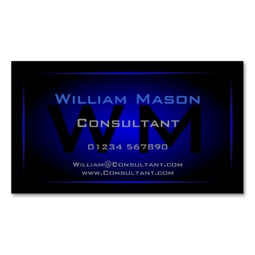 519 best real estate business cards images on pinterest real cool black dark blue monogram business card reheart Images