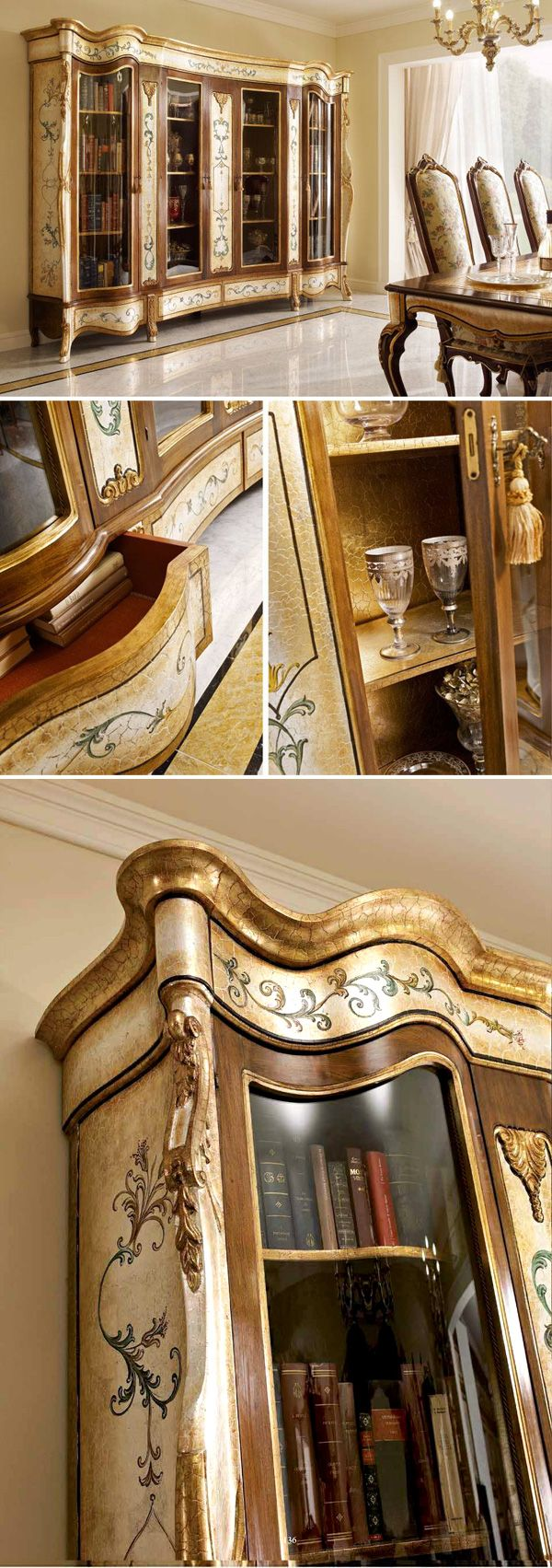 In the #study it can store precious books; in the #dining room it can host sophisticated #tableware.