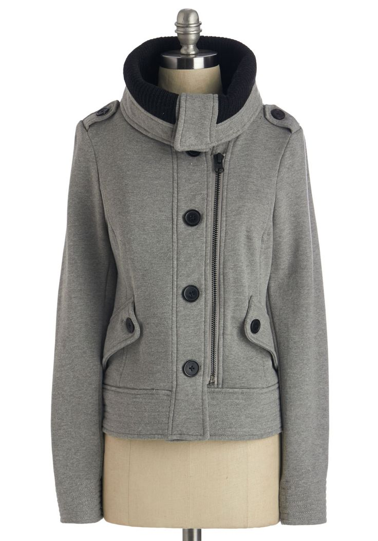 Adorable Anecdote Jacket. As soon as you zip-and-button into this heather