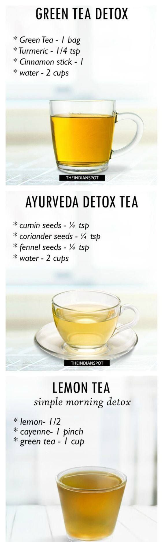Here's some nice Morning Detox tea recipes for healthy body and glowing skin for you! :)