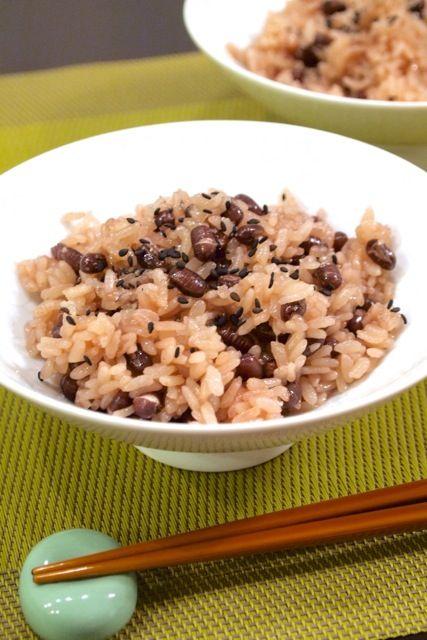 和食】お赤飯と真アジの開き定食。: きちりーもんじゃの*美味しいブログ* レシピはこちらに載せています。