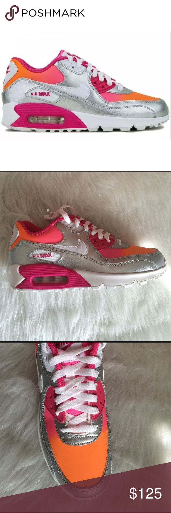 NIKE AIR MAX 90 PREMIUM LTR SHOES Shoes are a size 6 youth which equals to WOMENS 7.5. I added sizing chart for better understanding. No box Nike Shoes Sneakers