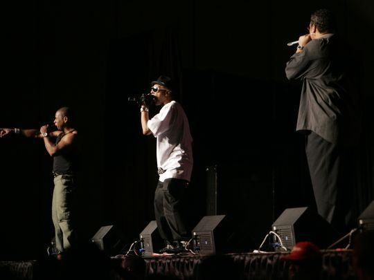 """Guy """"Master Gee"""" O'Brien (from left), Henry """"Hen Dogg"""" Williams and Michael """"Wonder Mike"""" Wright of The Sugarhill Gang, pictured in 2009. (Photo: FILE PHOTO)"""