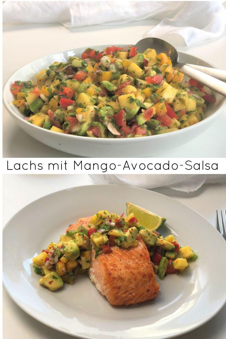 dies ist ein rezept f r lachs mit mango avocado salsa von das k stliche gericht. Black Bedroom Furniture Sets. Home Design Ideas