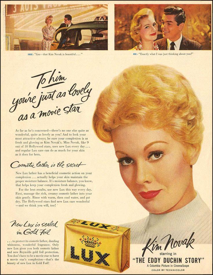 Kim Novak uses Lux in 1956