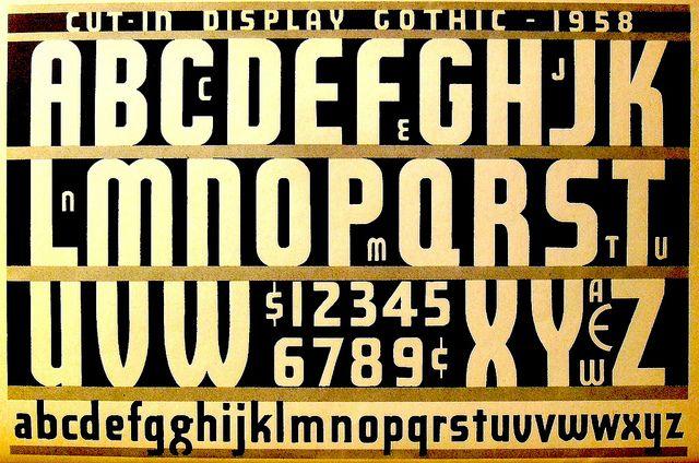 1950s Type Font Design Alphabet Speedball Ink Typography Book by Christian Montone, via Flickr