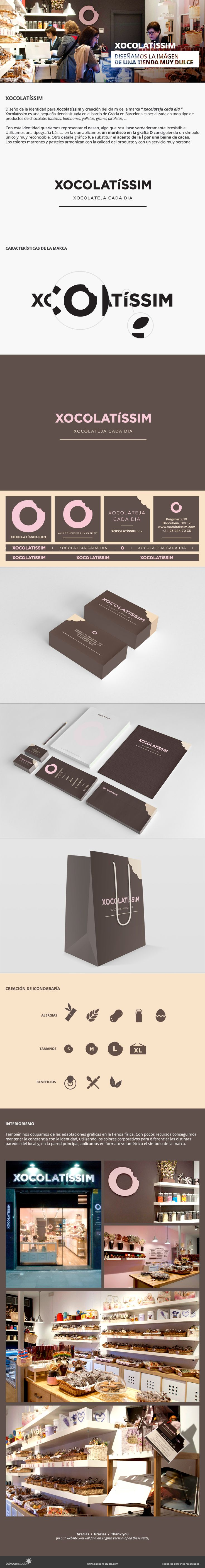 Bakoom Studio - Xocolatissim  Proyecto de branding para un tienda de productos de chocolate de Barcelona.
