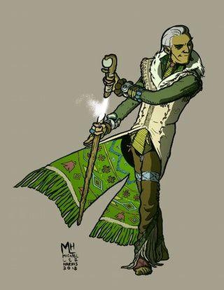 My Spore Druid/Monk! : characterdrawing | Character Art in