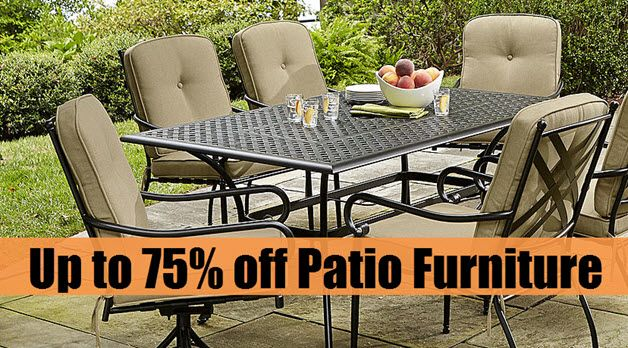 Now is the time to buy outdoor furniture!!!  Kmart is offering up to 75% off Patio Furniture with free pick up. You can get six piece sets from $105 (Was $420) and more!  Get this deal here ---► http://www.swaggrabber.com/?p=274844