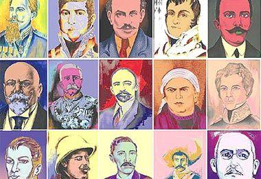 Warholean a personajes de la Independencia y Revolución