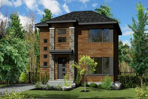 Contemporary Exterior - Front Elevation Plan #25-4581 - Houseplans.com