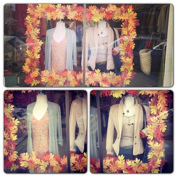 Fall window display at Twirl!  #Twirl #thetwirlgirl #fall window