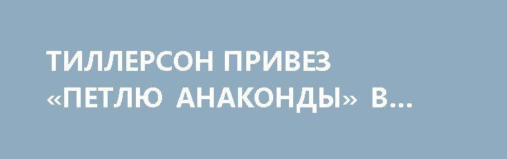 ТИЛЛЕРСОН ПРИВЕЗ «ПЕТЛЮ АНАКОНДЫ» В МОСКВУ. http://rusdozor.ru/2017/04/13/tillerson-privez-petlyu-anakondy-v-moskvu/  Военный эксперт Александр Жилин в эфире программы «На Самом Деле» агентства News Front; ведущий программы — Сергей Веселовский. «Все, что происходит в Сирии и то как это делается, мягко говоря, не выдерживает никакой критики. Англосаксы вообще обнаглели. Почему обнаглели? Да ...