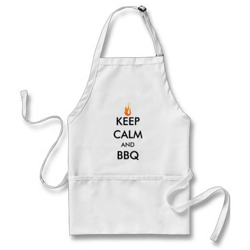 Keep Calm and BBQ Funny Cute Cooking Apron