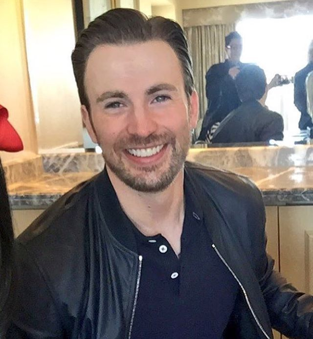"""9,711 Likes, 36 Comments - Chris Evans (@igchrisevans) on Instagram: """"⠀⠀⠀ NEW! Gifted press junket. Comes out April 7!"""""""