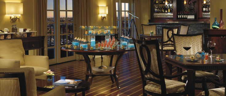 Escape to the elegant Club Lounge at The Ritz-Carlton, Marina del Rey for some extra luxury and pampering from the dedicated concierge staff.