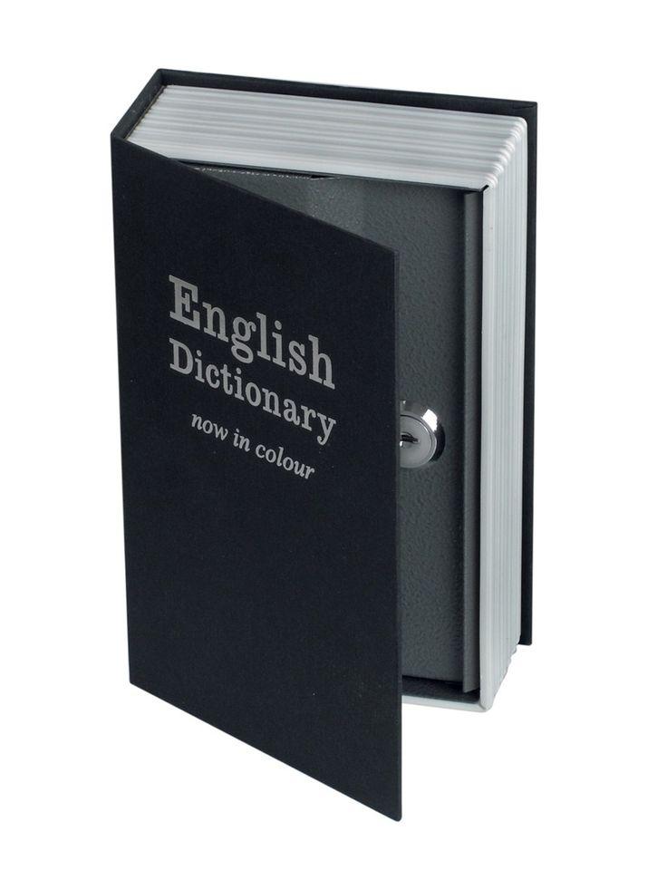 Petit coffre-fort en métal en forme de dictionnaire, livré avec 2 clés. Dimensions: long. 18 cm x Larg. 12 cm