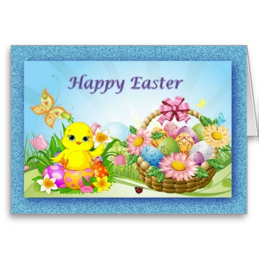 Easter Wishes Greetings Card by Elenaind #Zazzle