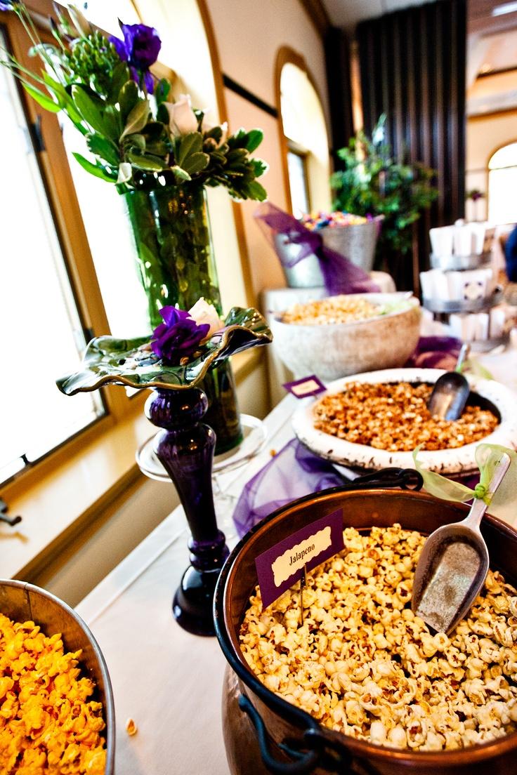 Popcorn bar ideas for @Nikkie Kryger DeSimone's shower ...