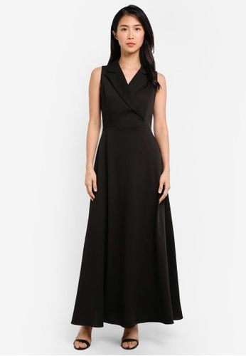 Tuxedo Trench Dress from Preen & Proper in black_1