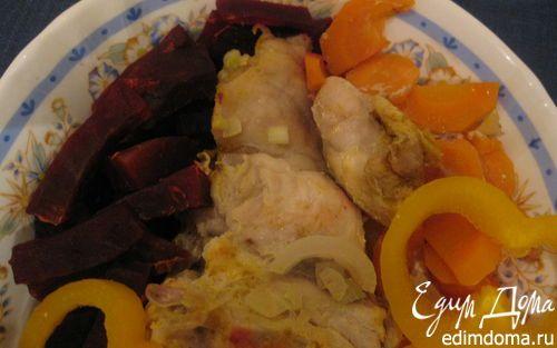 Кролик на овощной подушке в пароварке | Кулинарные рецепты от «Едим дома!»