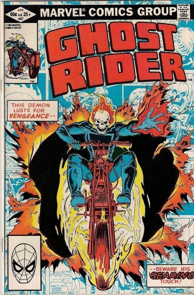 GHOST RIDER #67 J.M. DeMatteis / Don Perlin 1982 MARVEL COMICS f+ (6.5) ~~*