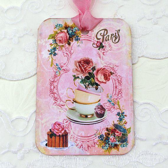Tags Gift Hang Tea Party High Tea Favor by EnchantedQuilling