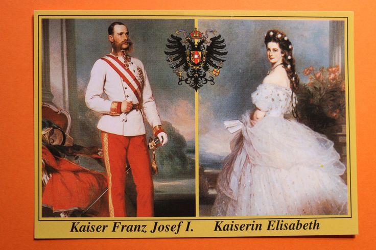 AK Kaiserin Elisabeth Kaiser Franz Josef I. von Österreich 1970er-80er Sisi  !!!