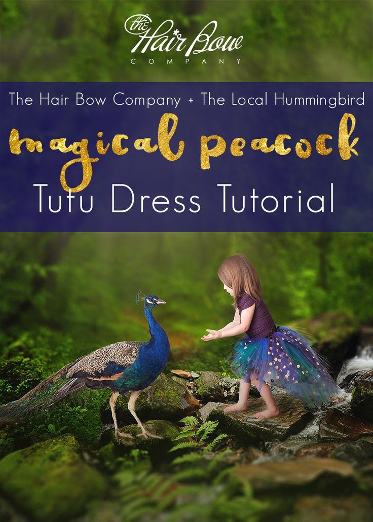 Peacock Tutu Dress DIY! We are excited to partner with tutu maker Nicole Weldon from The Local Hummingbird for this tutorial! When Nicole suggested a peacock  for our first collaboration, we knew it would be beautiful since we have created peacock inspired dresses before. When we saw this one though, we were totally blown away! Magical is the only way to describe it.