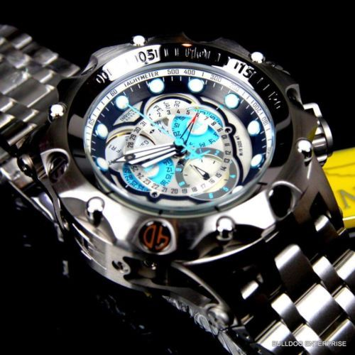 Invicta-Reserve-Venom-Hybrid-Master-Calendar-Silver-Tone-Blue-Watch-New-16803