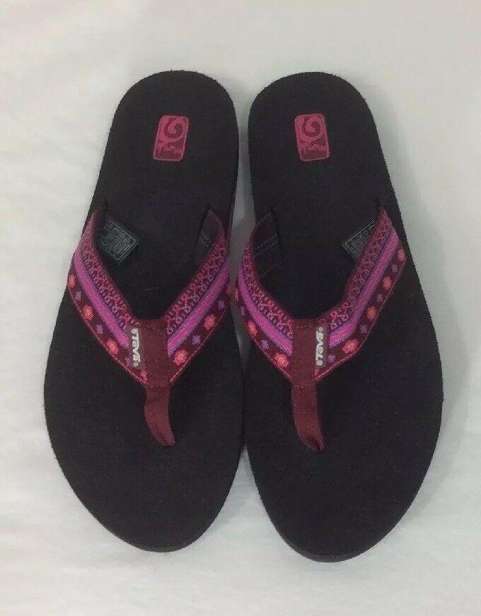 a8453e8e5105 Teva MUSH II   4198 Pink Multicolor Woven Flip Flops Thong Sandals Women  Size 10