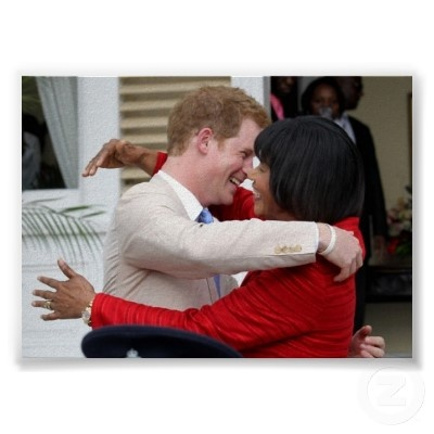 Prince Harry & PM Portia Simpson Miller Poster
