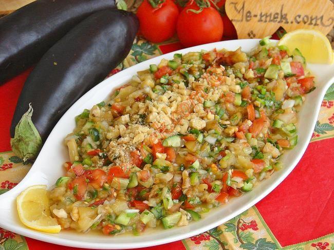 Köz Patlıcanlı Gavurdağ Salatası Resimli Tarifi - Yemek Tarifleri