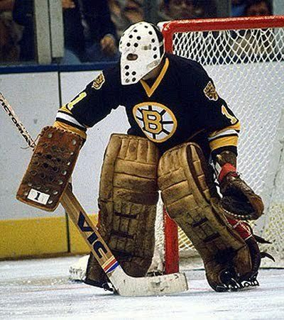 Goalie Mask - Rogie Vachon NHL Boston Bruins White