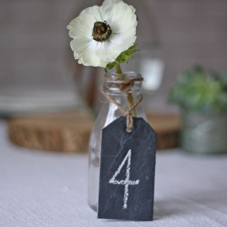 slate table numbers wedding luggage tags