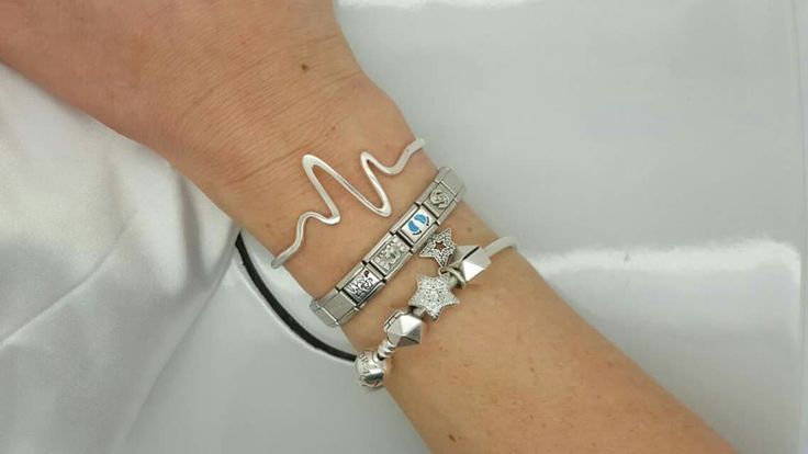 Custom heartbeat cuff bangle in sterling silver. R695.  - Havilah Designer Jewellers