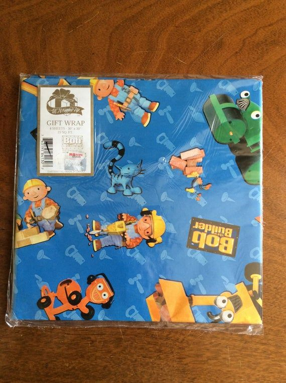 Bob The Builder Gift Wrap Pack Etsy Gift Wrapping Wrap Vintage Party