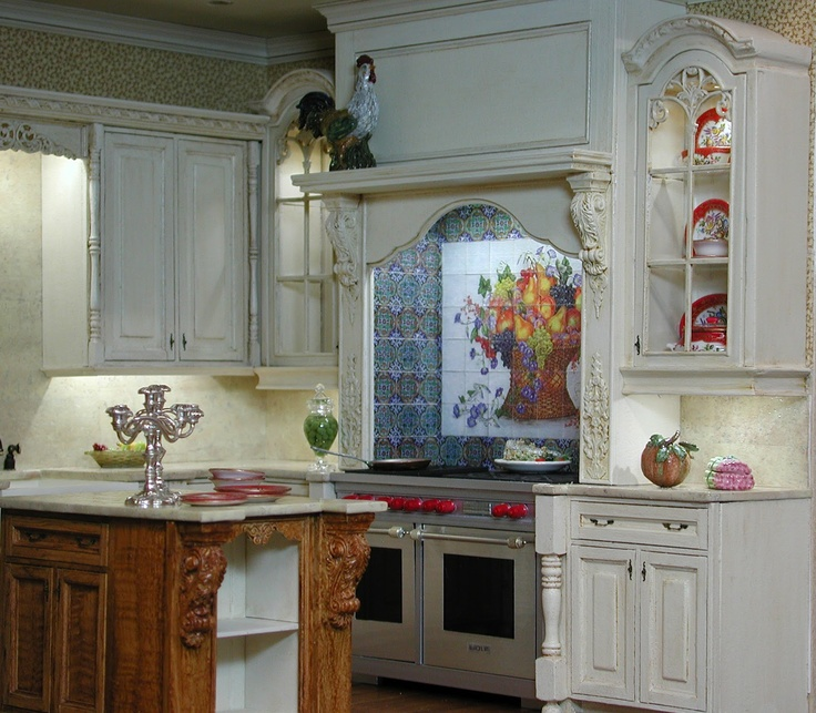 Miniature Kitchen: 262 Best Images About HAND-PAINTED TILES On Pinterest