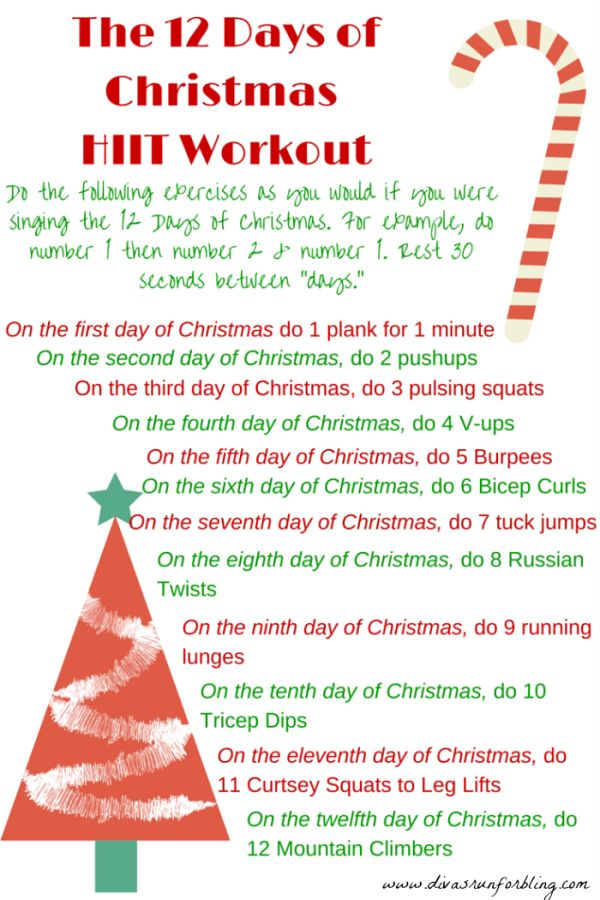 Holiday Workout Tips, 12 days of Christmas