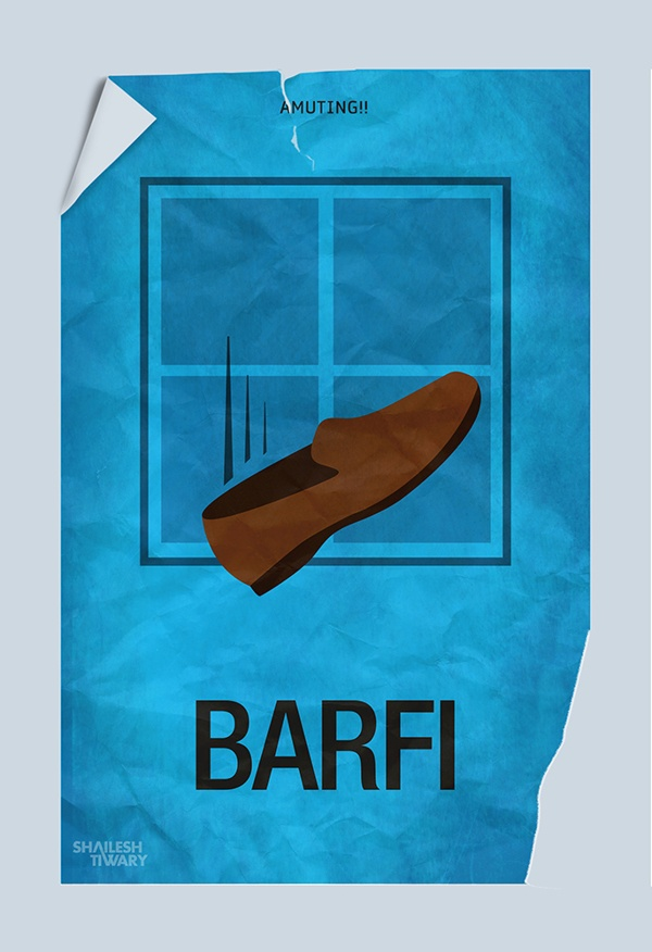 #Barfi #minimal #Poster  watch this movie it is an awesome indian film!