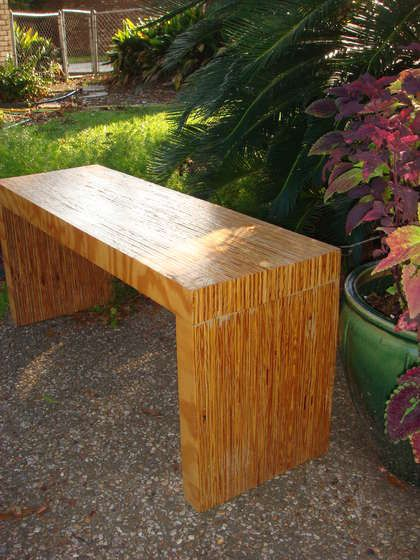 we need a bench smaller than an easily found standard size....  would be fun to build our own.