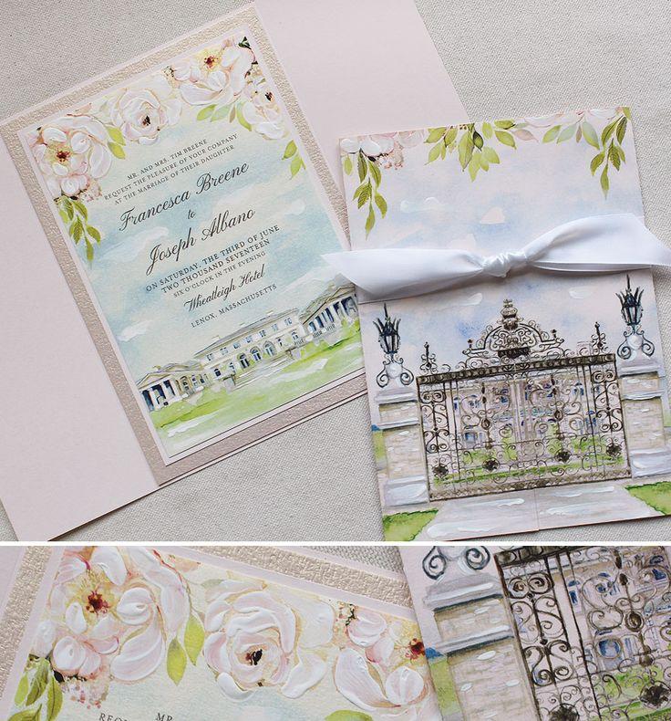 Francesca B The Wheatleigh Hotel Wedding Invitations