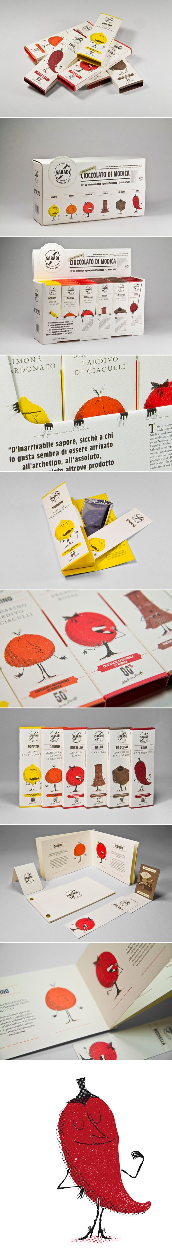 Chocolat Sabadi / design Happycentro. What a great series of fun packaging. PD