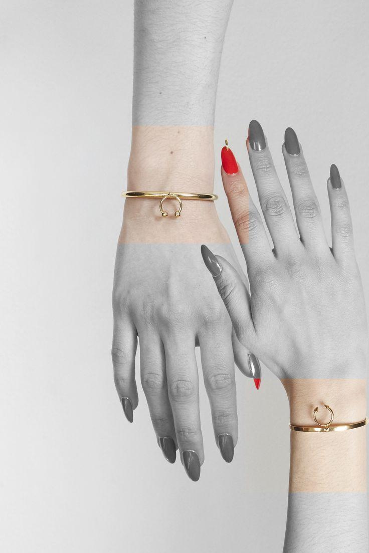 'Pierced' cuff bracelets by MFP