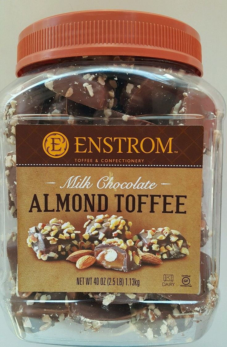 40 Oz Enstrom Milk Chocolate Almond Toffee, Gluten Free, Usa