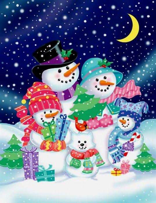 Snowman ❄️ Snow Woman ❄️ Snow Babies - Illustrator Janet Skiles   Christmas .. Vita LiveInternet - orosz Service Online Diaries