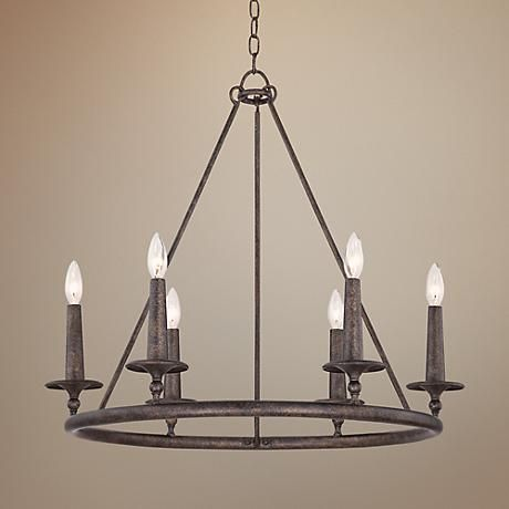 "Quoizel Voyager 28"" Wide Malaga Chandelier"