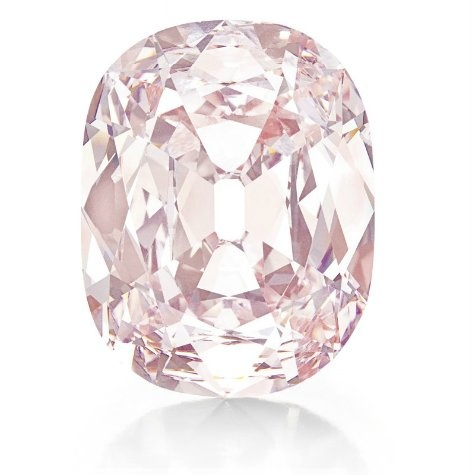 "The Princie Diamond. Approximately 34.65-carats, he diamond has a rich history. To quote François Curiel of Christie's: ""One of the largest & finest pink diamonds in the world, the Princie Diamond carries a fabulous provenance, which brings together the legendary names of Golconda, Nizam of Hyderabad & the Maharani Sita Devi of Baroda."" The diamond was named ""Princie"" in honor of the Prince of Baroda, son of the Maharani Sita Devi. Image credit: Christie's."