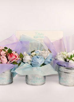 Macetitas Baby Flowers, de 6 prendas básicas de bebé